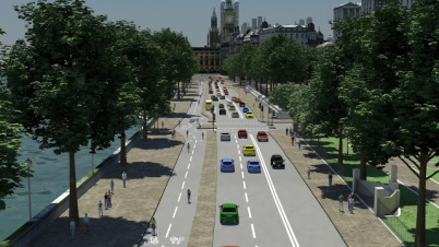 Victoria Embankment cycle lane proposal