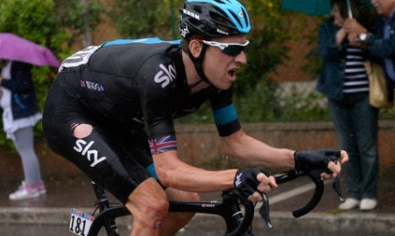 Bradley Wiggins at the Giro d'Italia