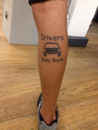 Driversstaybacktattoo